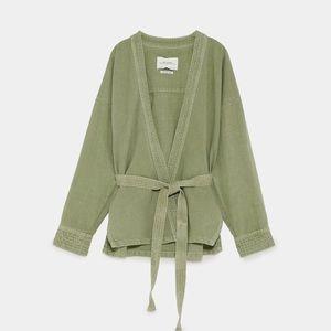 Zara Faded Belted Kimono